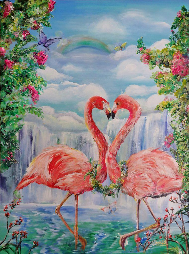 「Happy Flamingo」
