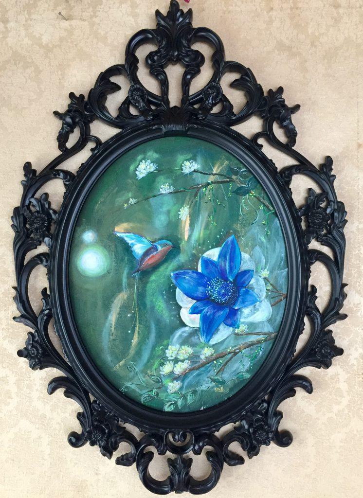 「幸せの青いハチドリ」
