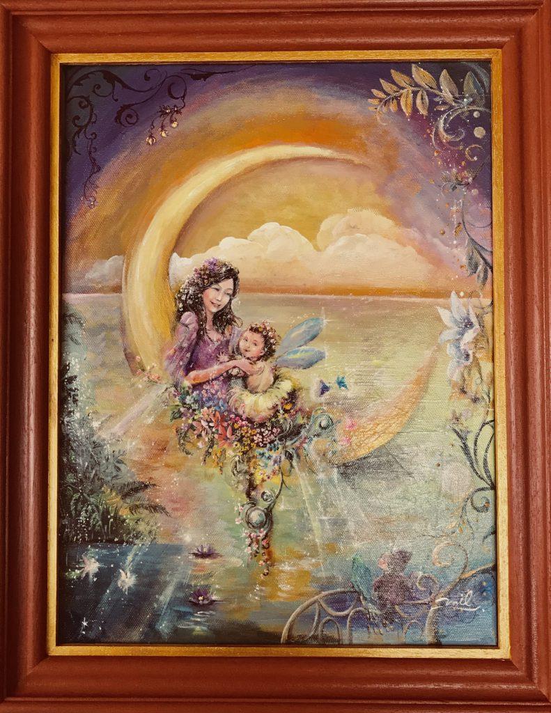 「月の子と光の女神」