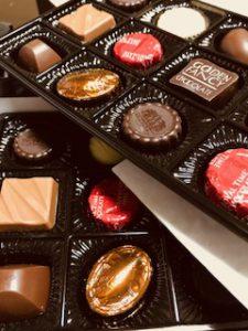 チョコレート見舞い